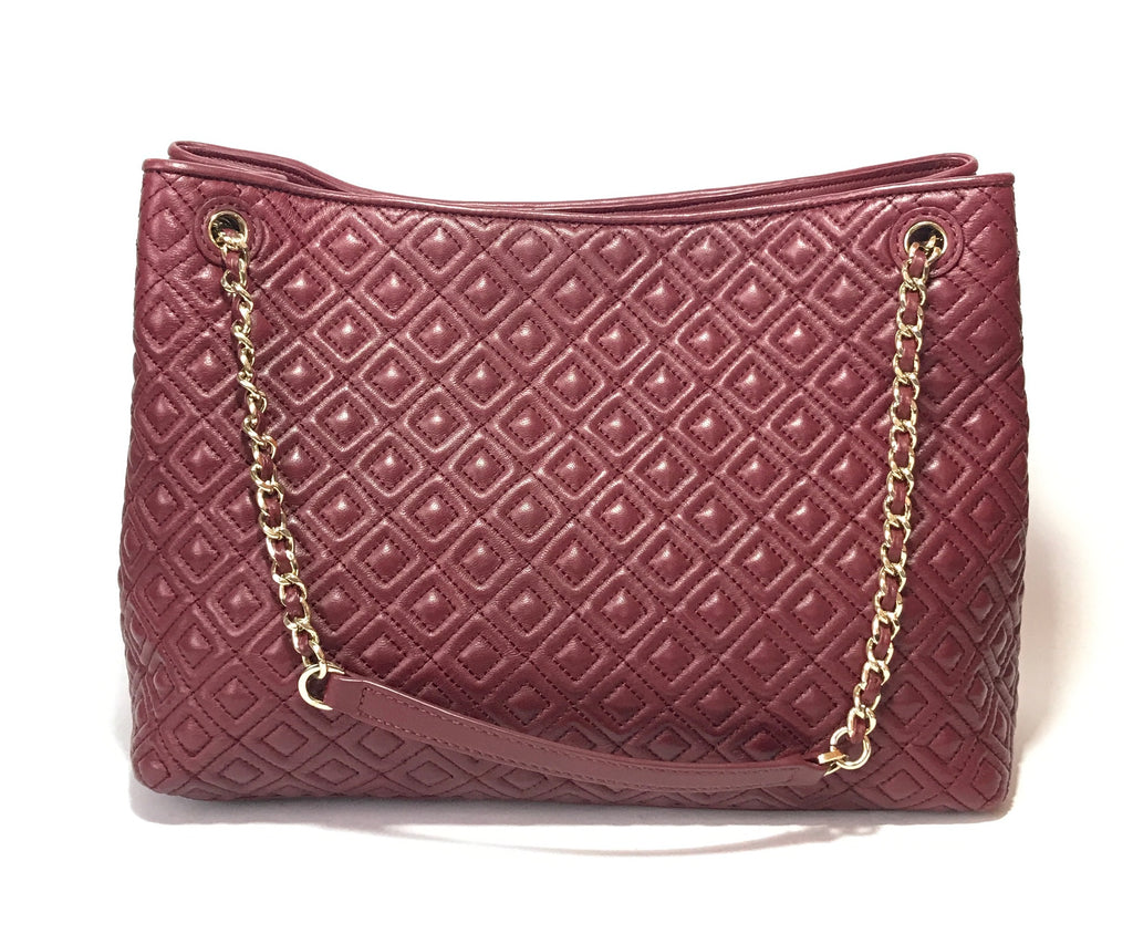 Tory Burch 'Marion' Diamond Quilted Lambskin Leather Shoulder Bag | Gently Used |