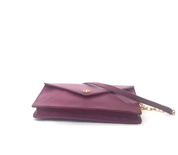 Tory Burch Medium 'Robinson' Maroon Shoulder Bag | Gently Used | - Secret Stash