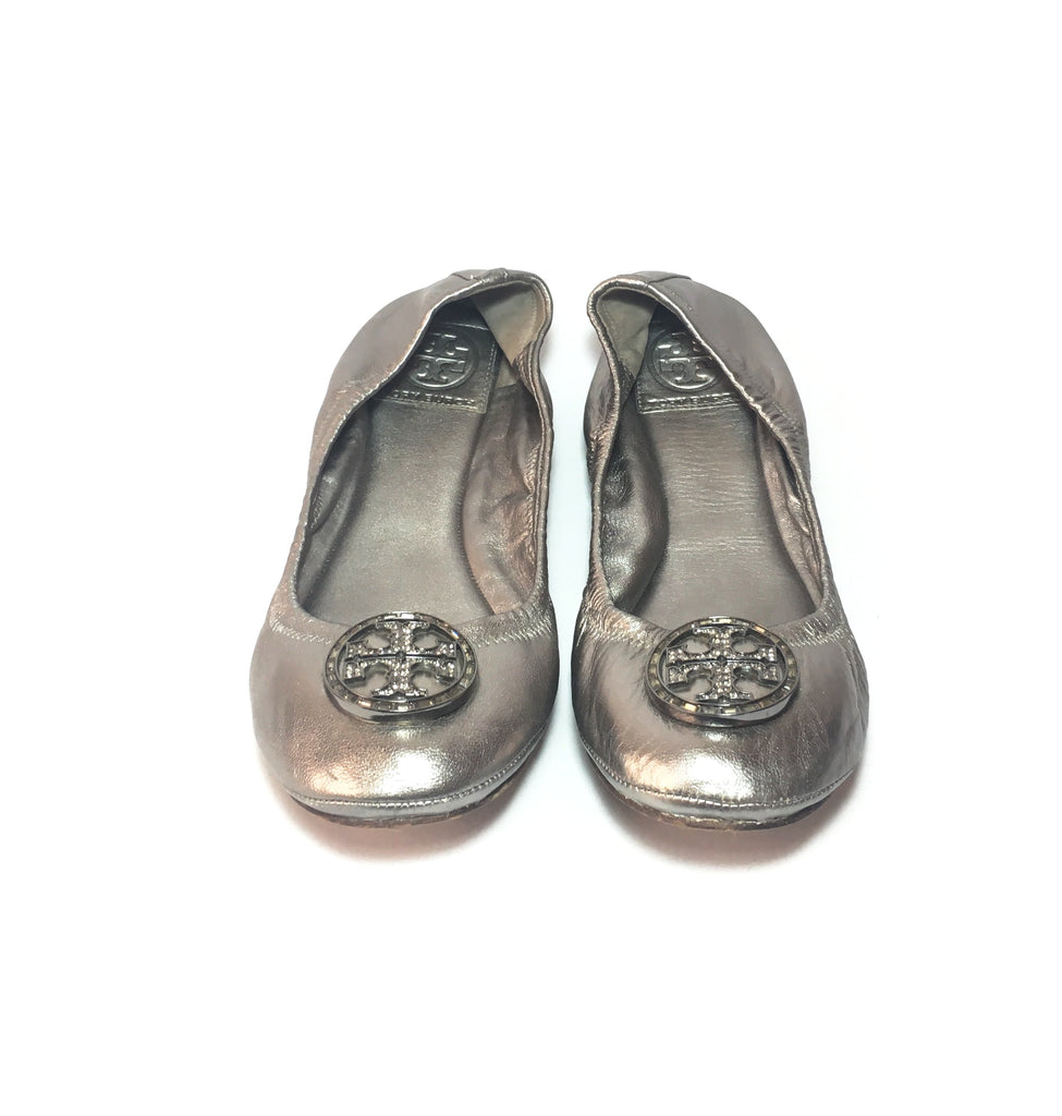 Tory Burch Silver/Grey 'Reva' Ballet Flats | Gently Used |