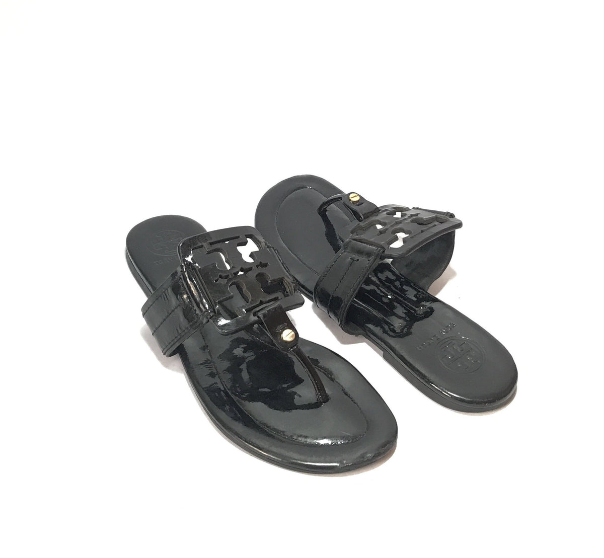612de89bb Tory Burch Patent Leather Square Miller Thong Sandals