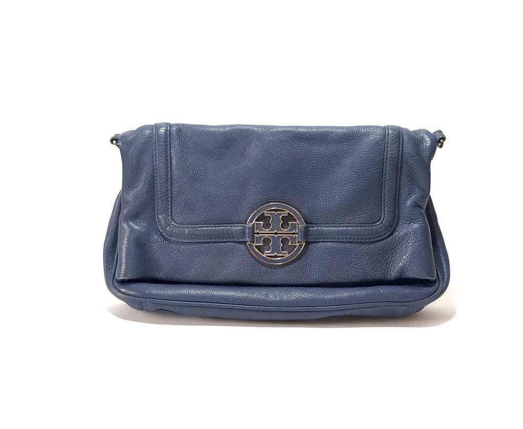Tory Burch Navy Blue AMANDA Leather Cross Body Bag | Pre Loved |