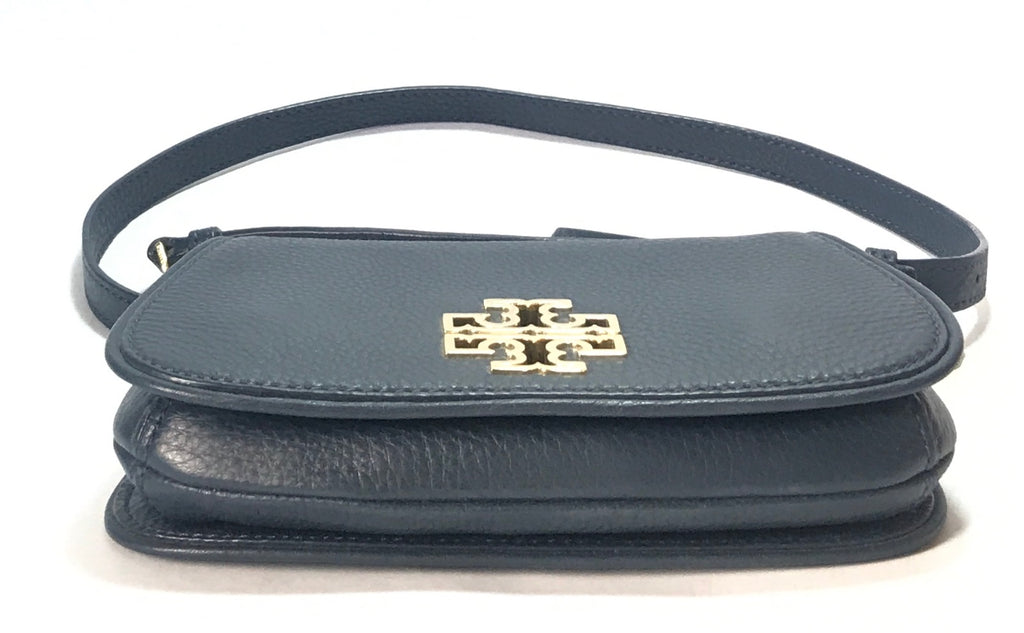 Tory Burch BRITTEN Navy Mini Cross Body Bag | Gently Used |