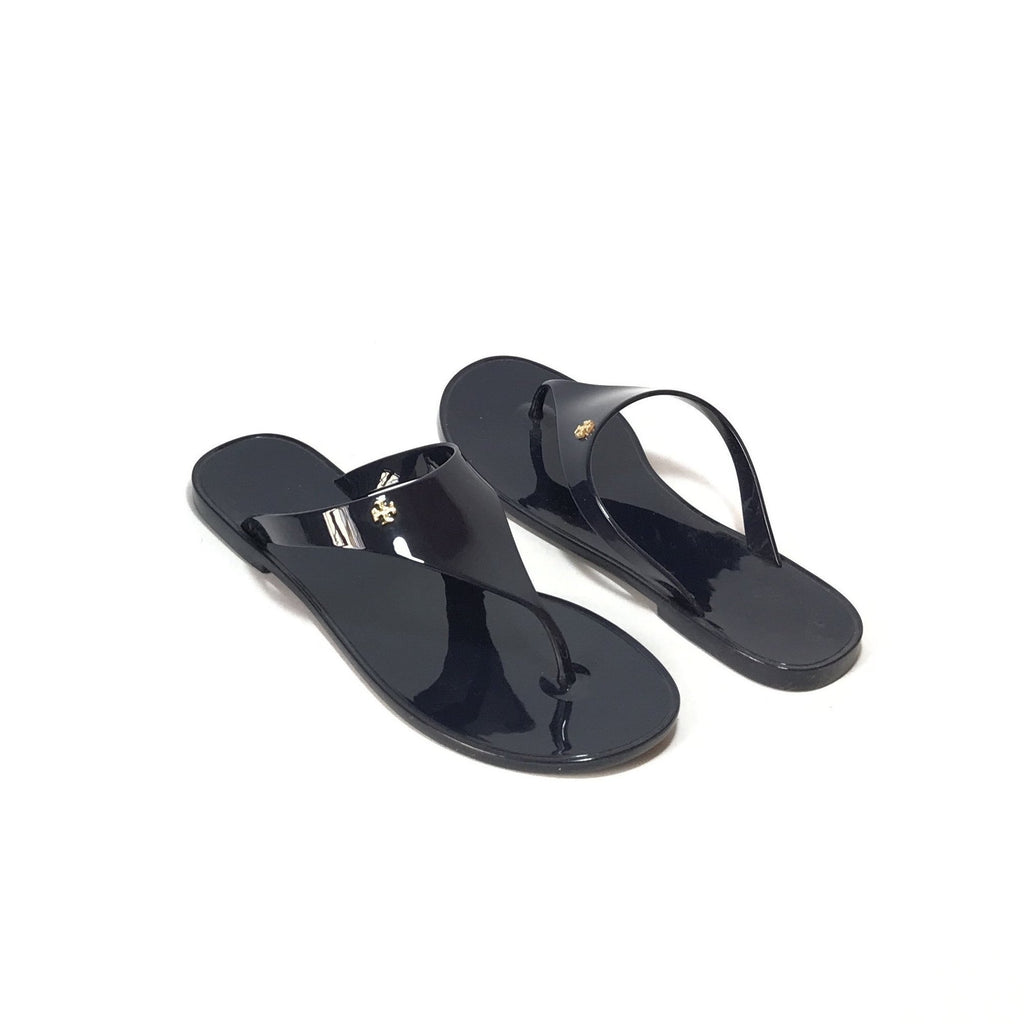 Tory Burch Navy Jelly 'Speer Flat Thong' Sandals | Brand New |