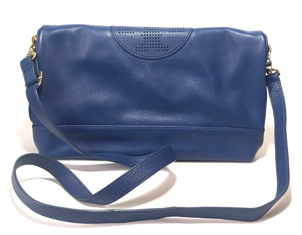 Tory Burch Blue 'Kipp' Foldover Messenger Bag | Gently Used |