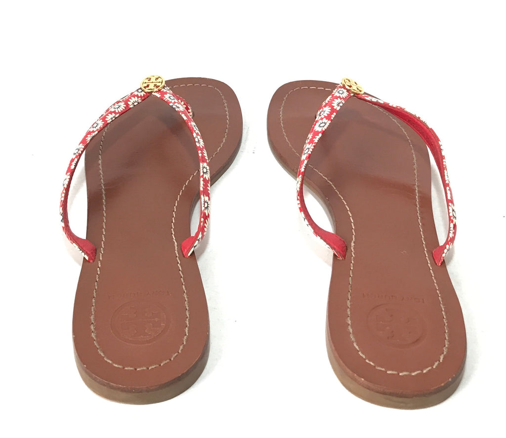 Tory Burch Red 'Terra' Thong Sandals | Gently Used |