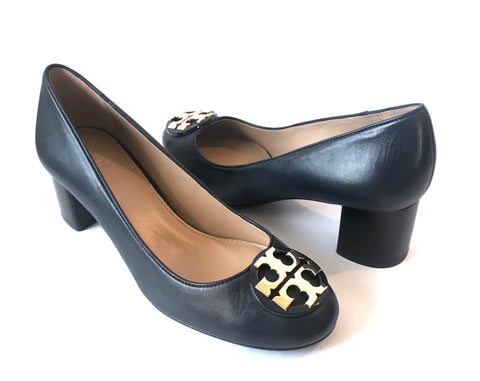Tory Burch Navy Blue Leather Pumps | Brand New |