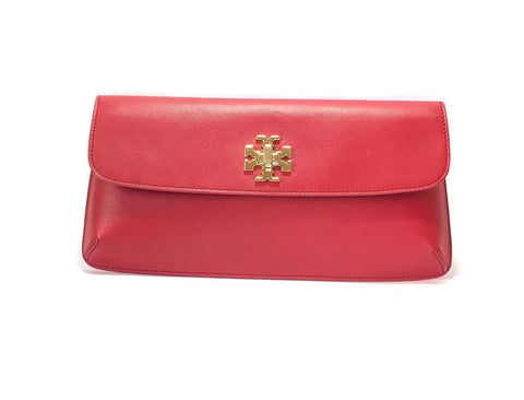 Tory Burch Red Leather KIRA Clutch | Gently Used |