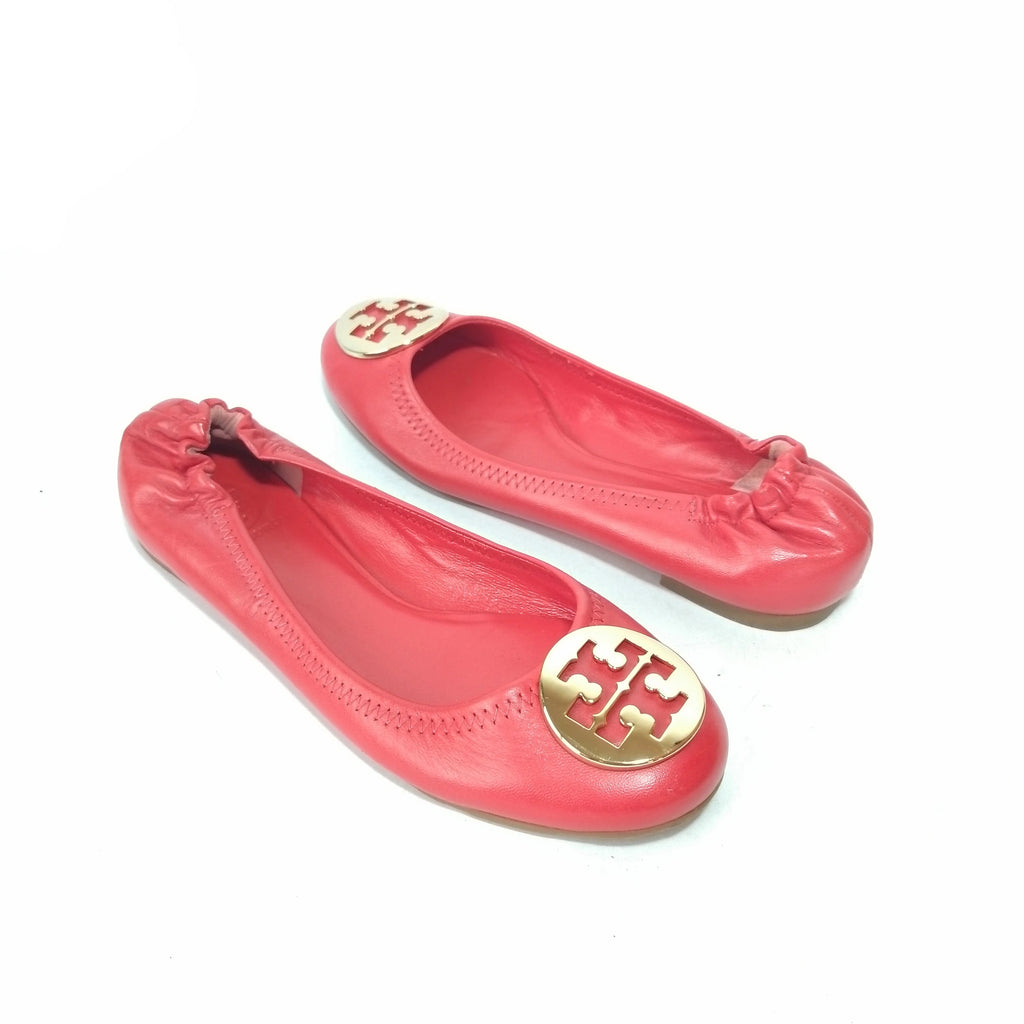 Tory Burch Red REVA Ballet Flats | Brand New |
