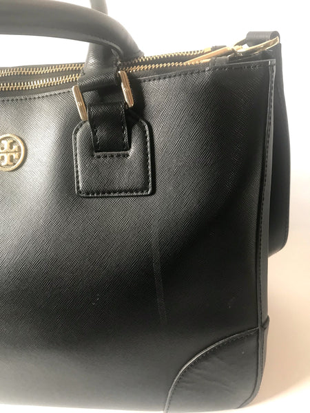 Tory Burch ROBINSON Double Zip Large Leather Tote | Pre Loved |