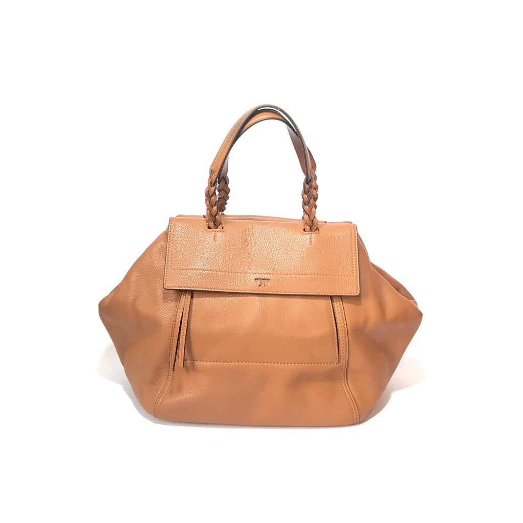 Tory Burch Tan Pebbled Leather Tote | Gently Used |