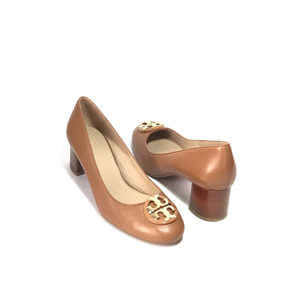 Tory Burch Tan Leather Pumps | Brand New |