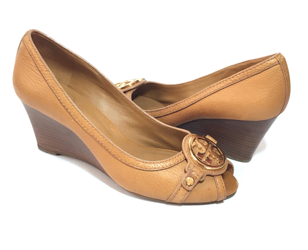 Tory Burch 'Amanda' Peep Toe Wedges | Gently Used |