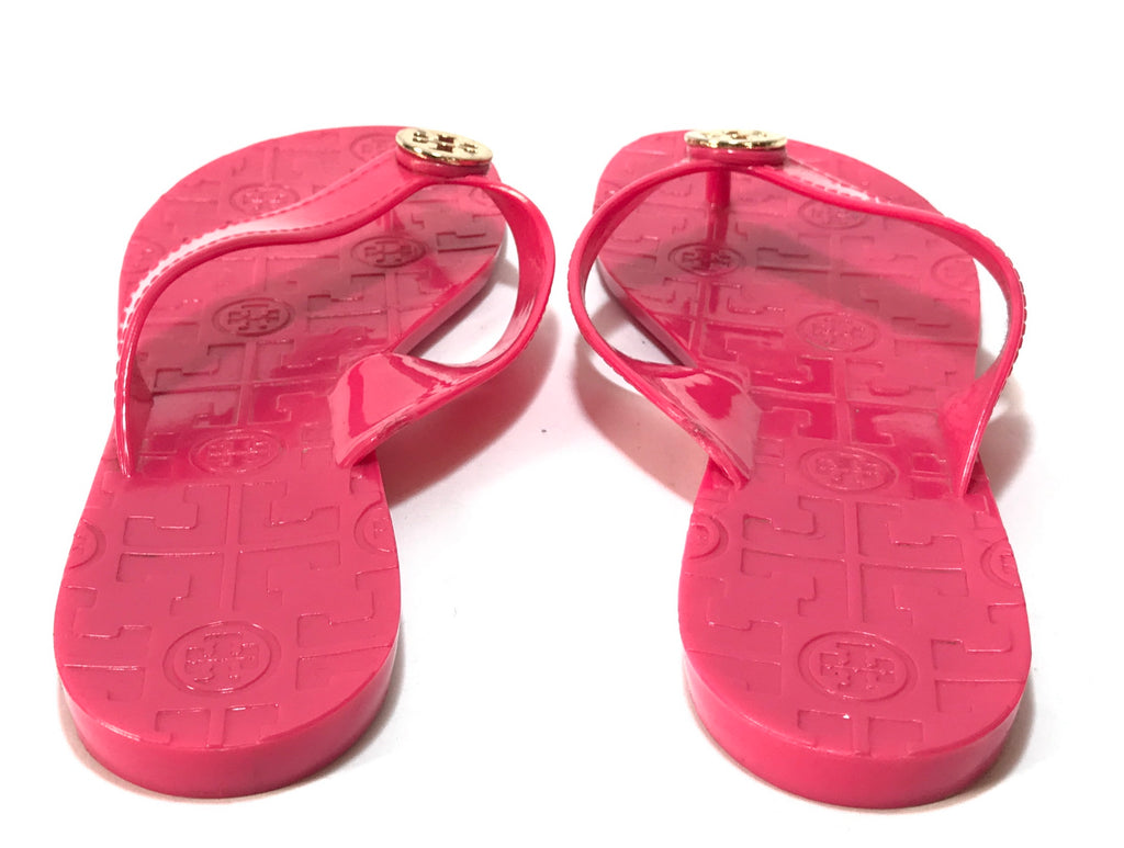 14733e1c899d Tory Burch Pink THORA Jelly Flats