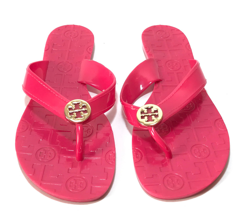 Tory Burch Pink THORA Jelly Flats | Pre Loved |