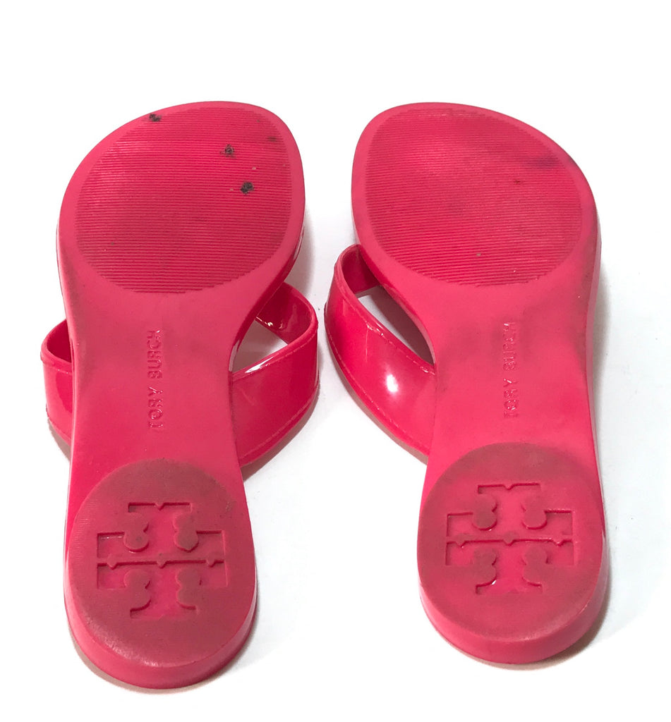 3d3aaeab8 Tory Burch Pink THORA Jelly Flats