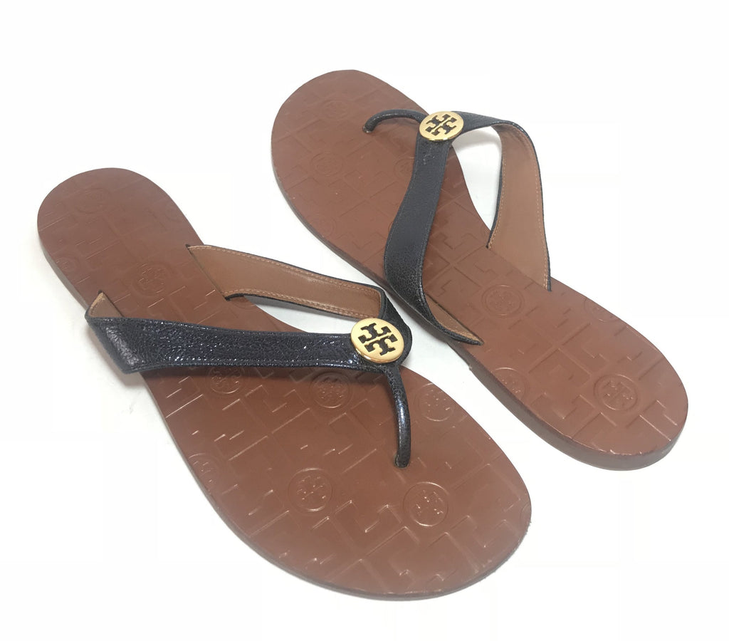 Tory Burch THORA Flat Thong Sandals | Gently Used |