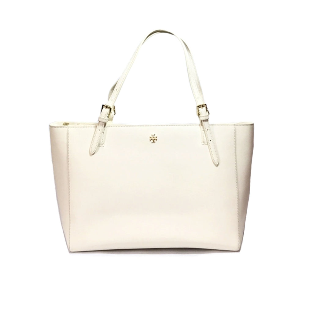 e181e411ac90 Tory Burch White  YORK  Buckle Leather Tote