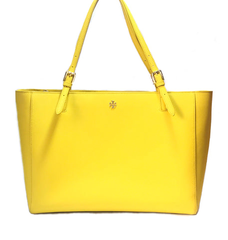 Tory Burch Yellow YORK Leather Tote | Gently Used |
