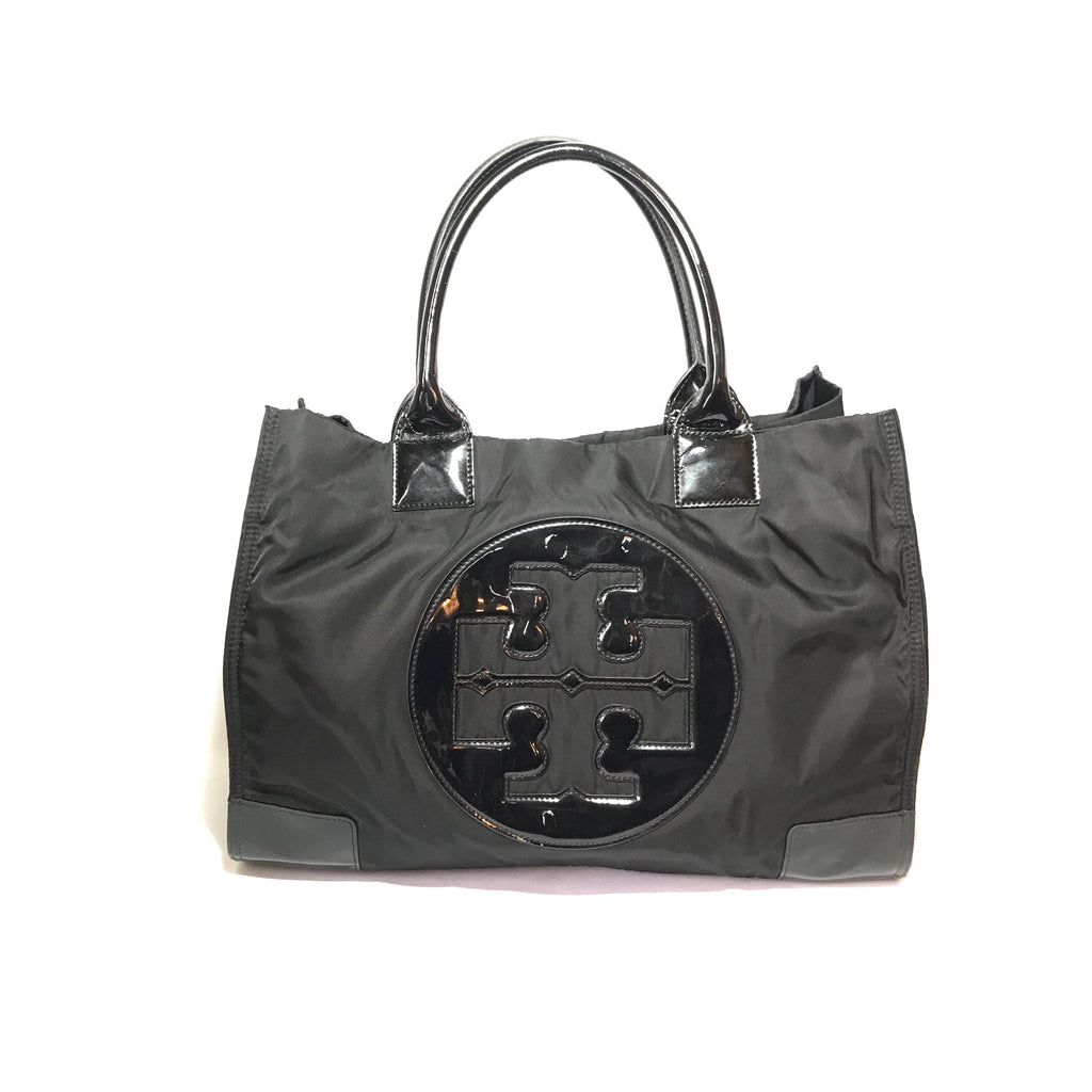 Tory Burch 'ELLA' Nylon Black Tote | Gently Used |
