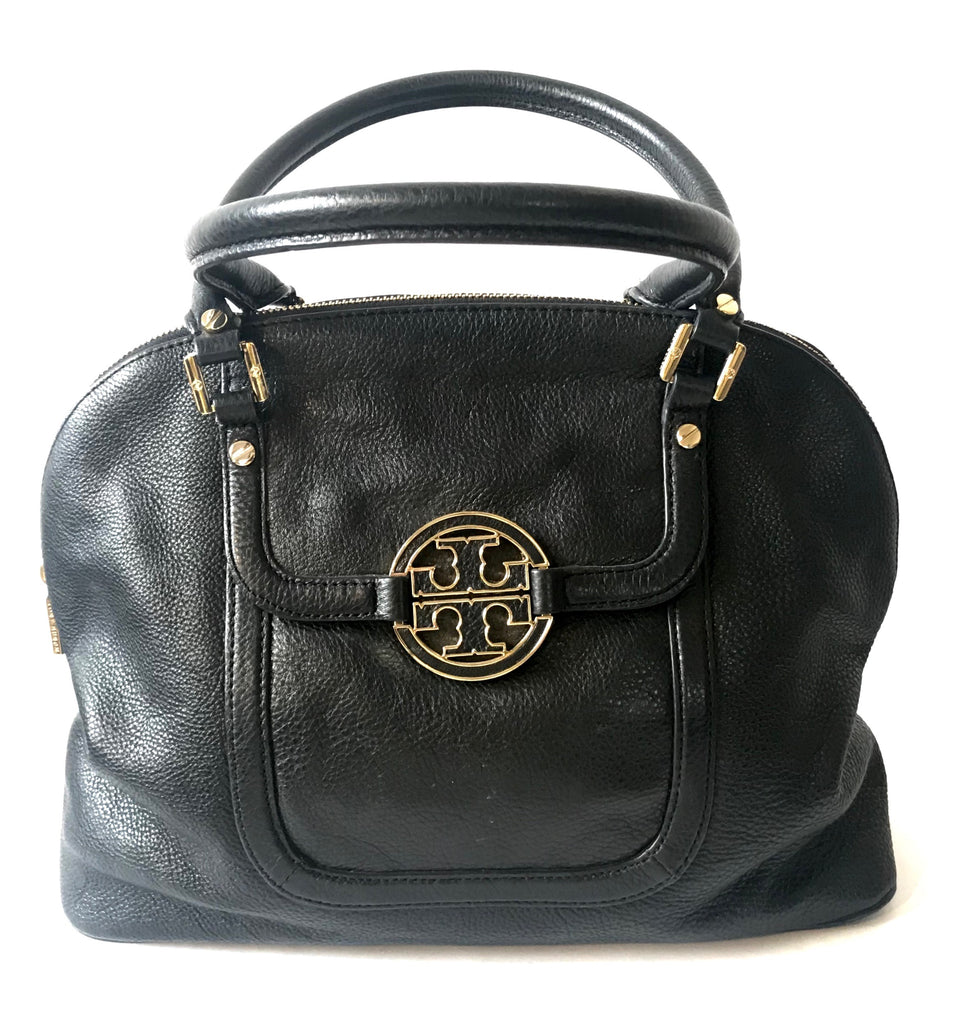 Tory Burch Black Leather Tote Bag | Pre Loved |