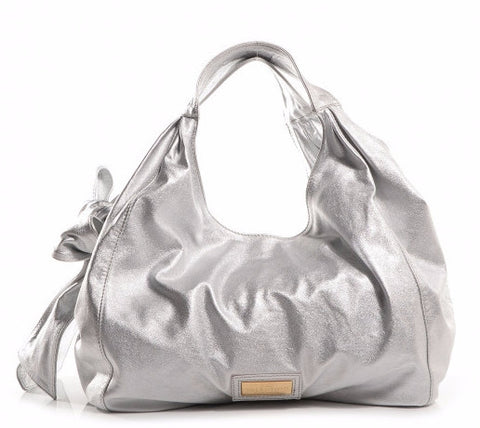 Valentino Oversized 'Nuage Bow' Silver Hobo Bag | Pre Loved |