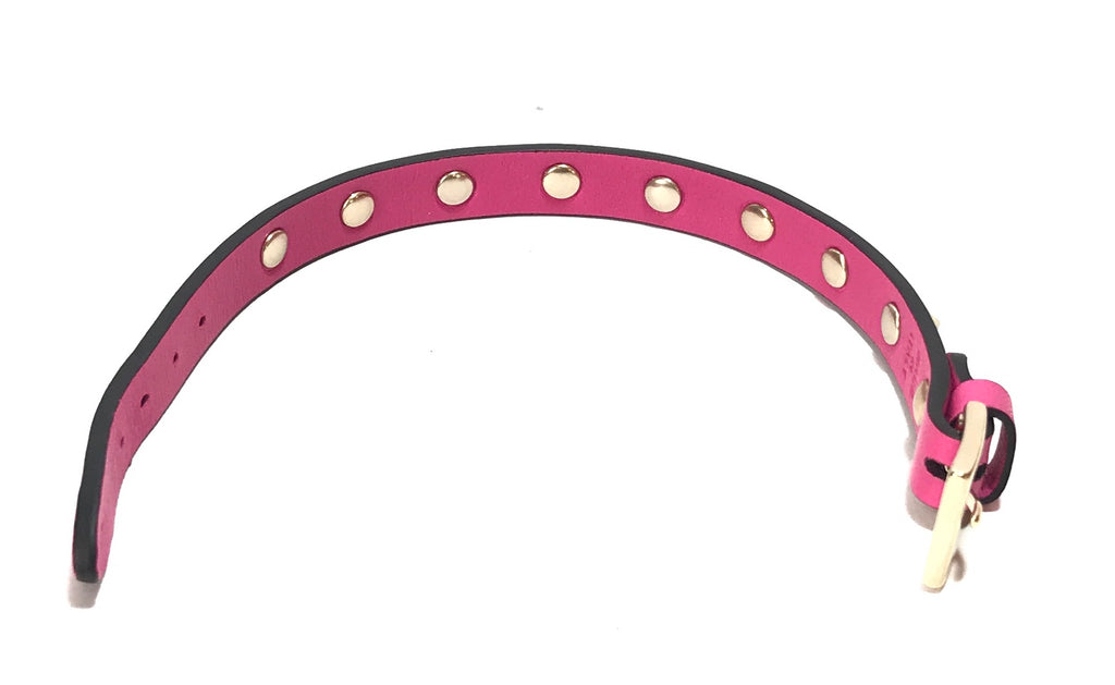 VALENTINO Bright Pink Rockstud Leather Bracelet | Brand New |