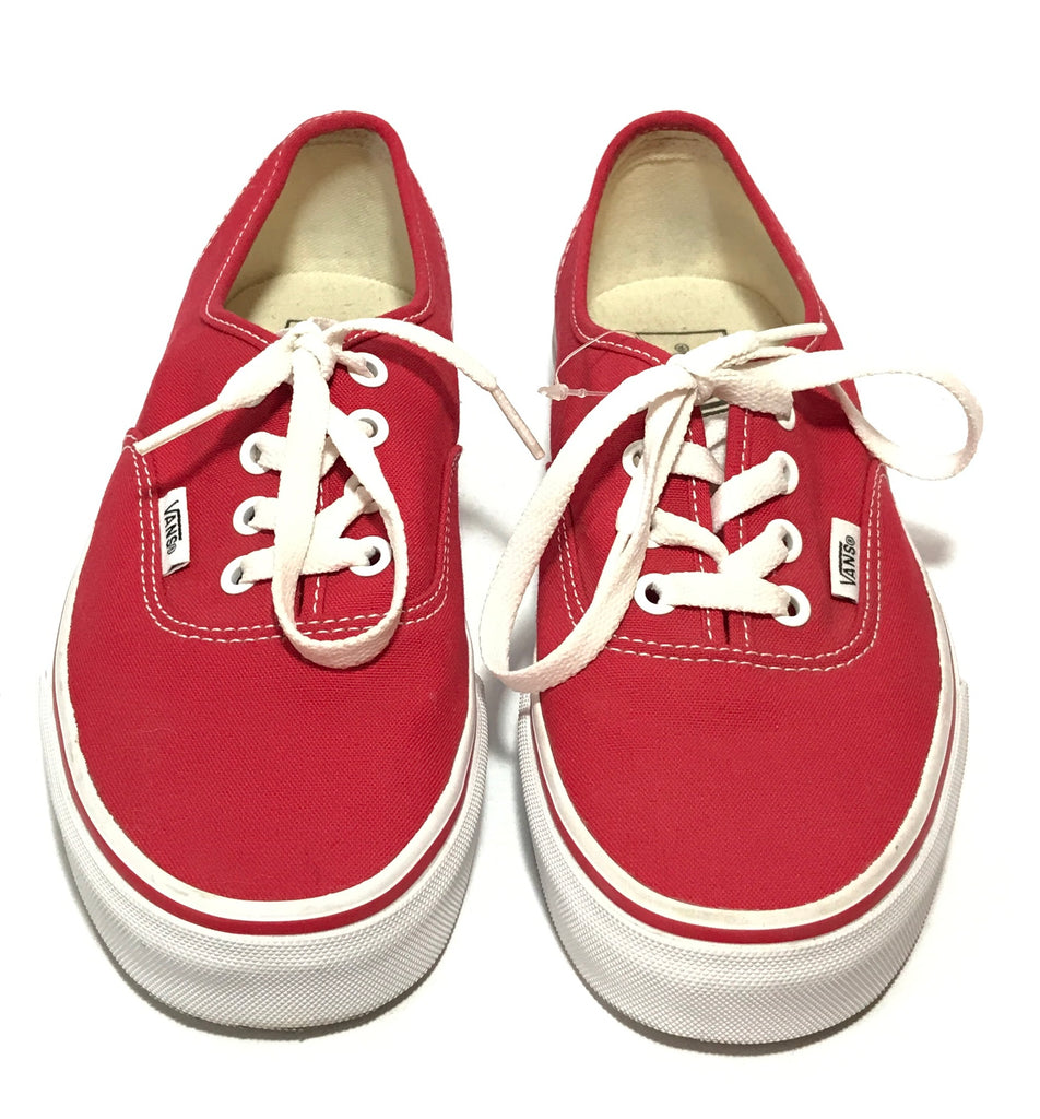 Vans Unisex Red Lace Canvas Shoes | Brand New |