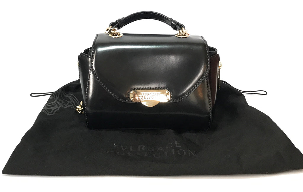 Versace Collection 'Vitello Spazzolato+Vit.Nappato' Crossbody Bag | Like New |