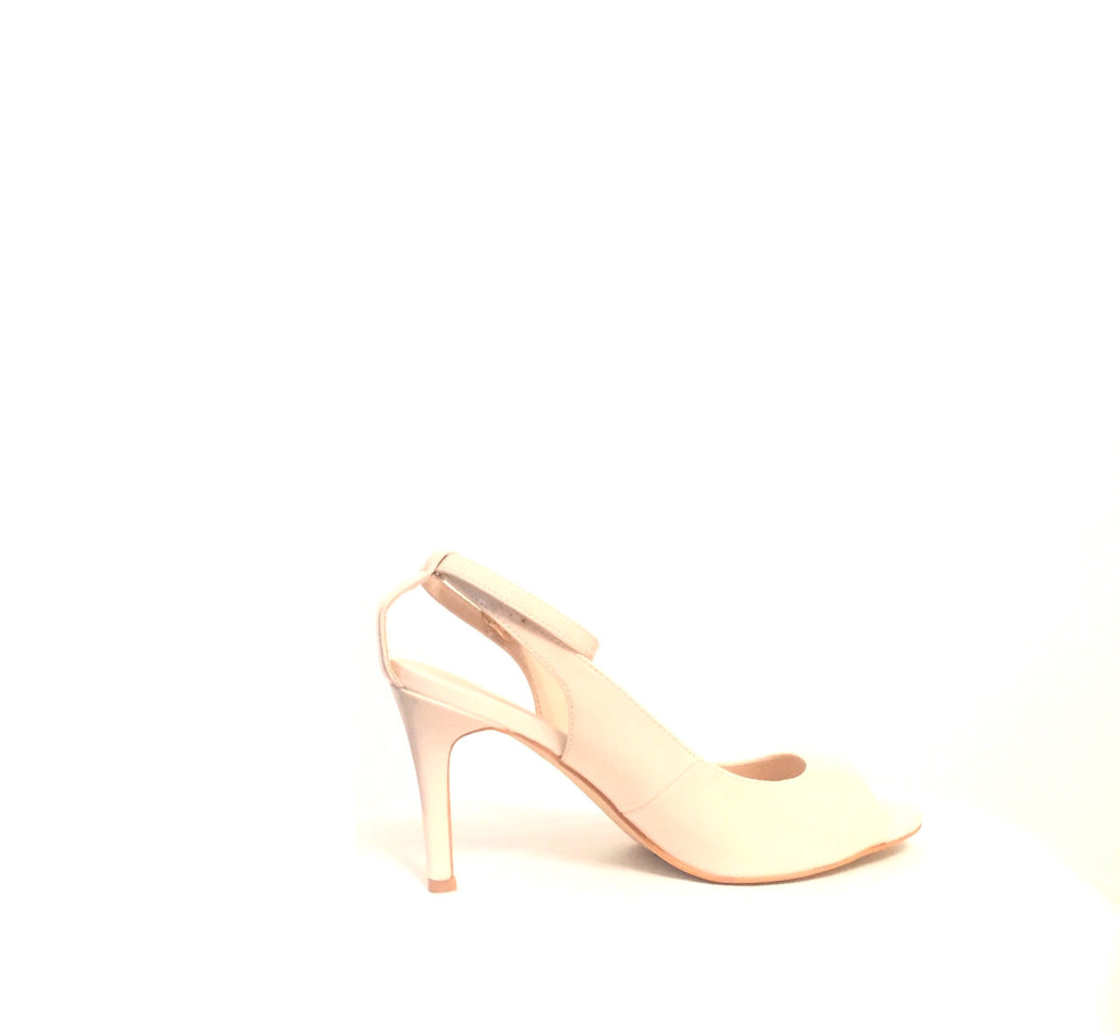 Vincci Nude Peep-toe Heels | Brand New | - Secret Stash