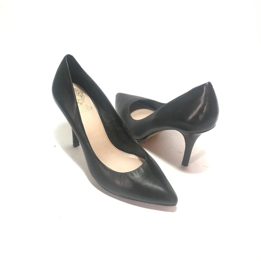 Vince Camuto Black Leather Pumps | Like New |