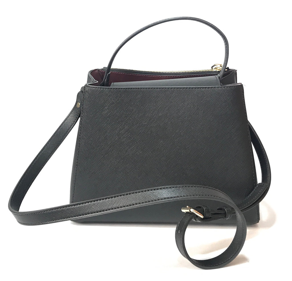 ZARA Black Textured Leather Bag | Like New |