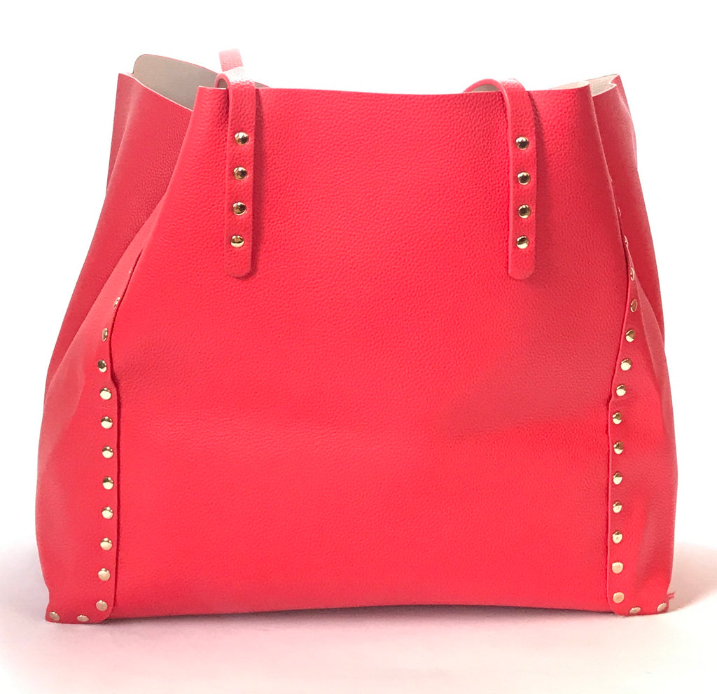 ZARA Red with Silver Studs Shoulder Bag | Like New |