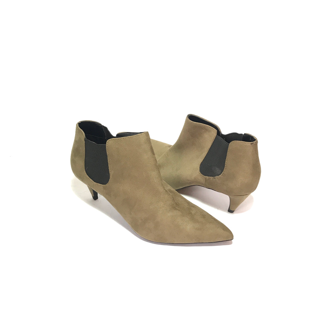 ZARA Taupe Suede Ankle Boots | Like New |