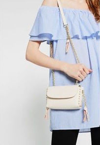 ZARA Studs & Chain Cross Body Bag | Brand New | - Secret Stash