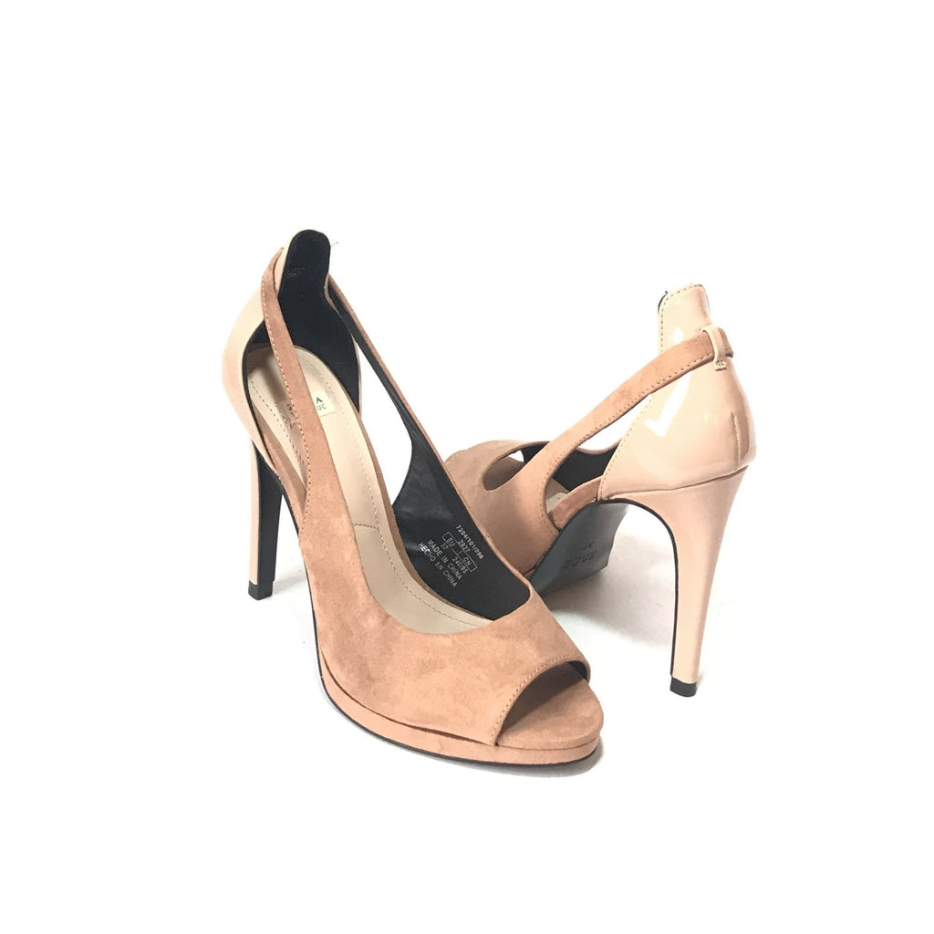 Zara Blush Pink Suede Heels | Like New |