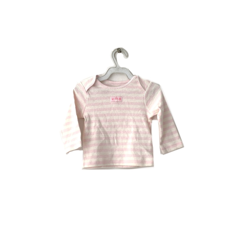Mothercare Pink & White Striped Shirt | Brand New |