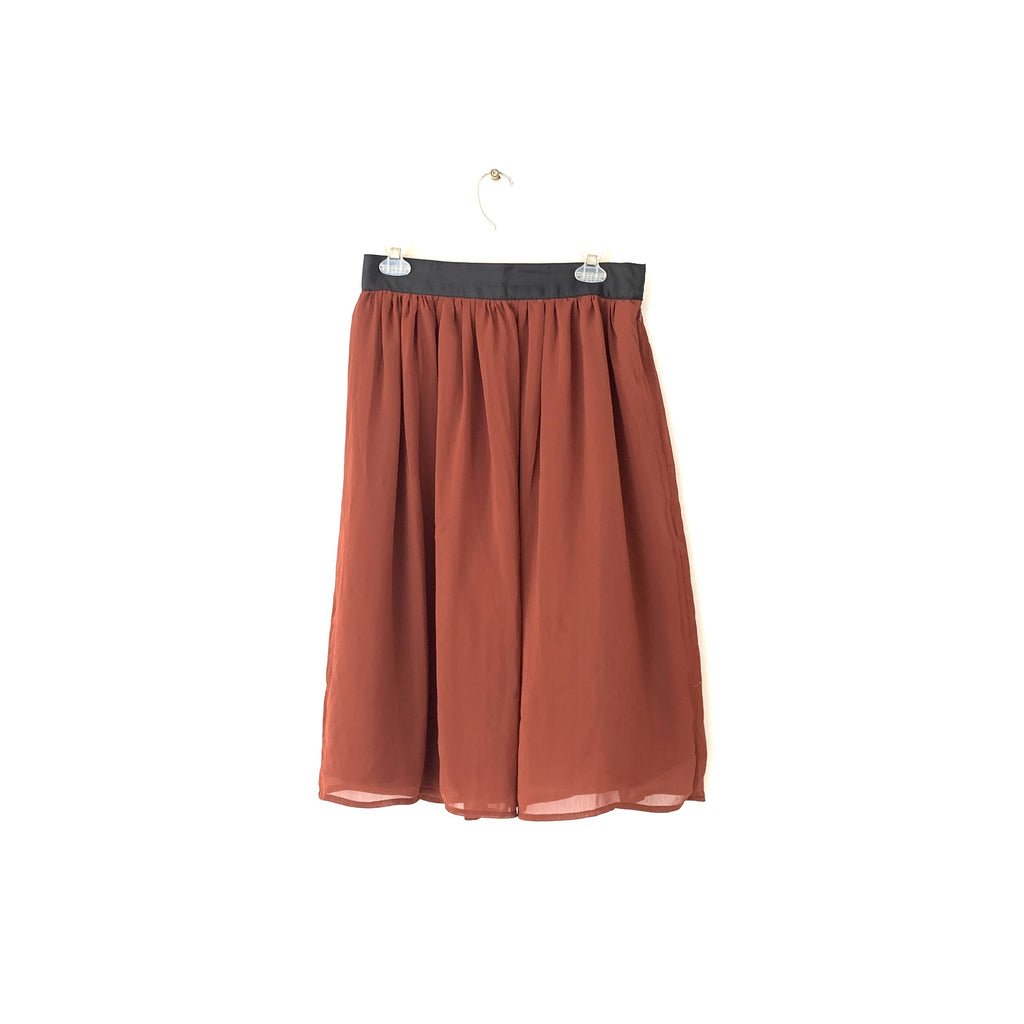 H&M Brown Chiffon Skirt | Gently Used |