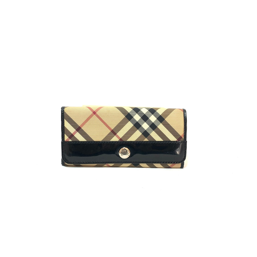 Burberry Haymarket Check Envelope Leather Wallet | Pre Loved |