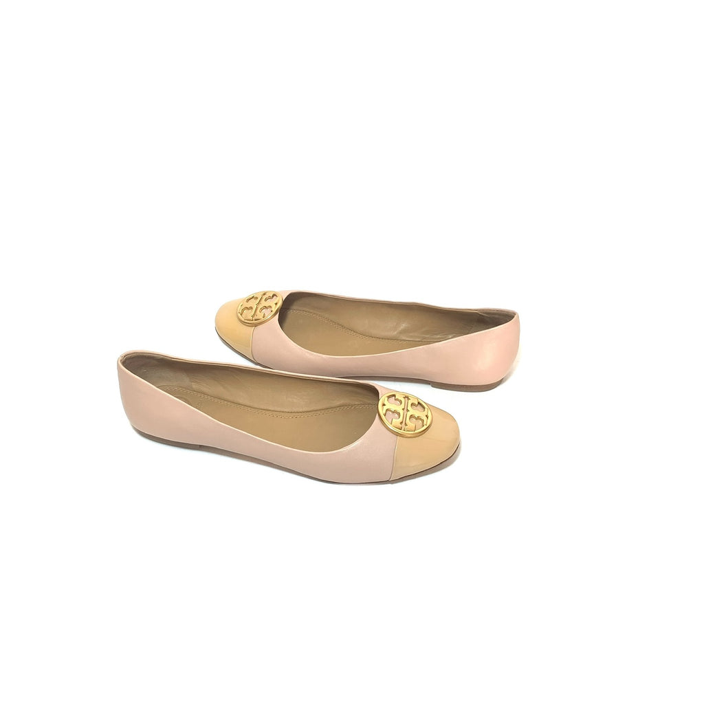 Tory Burch 'Chelsea' Cap-Toe Leather Ballet Flats | Gently Used  |