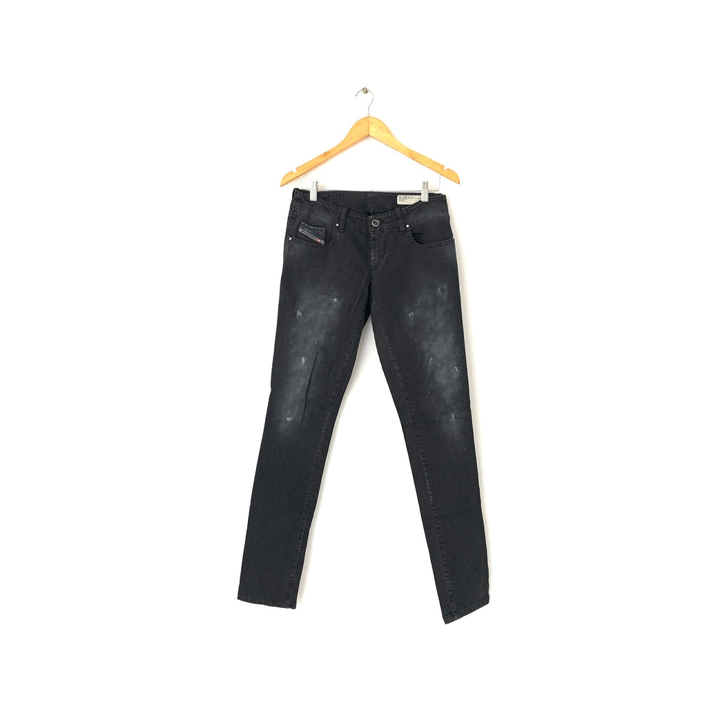 Diesel Black Faded Denim Skinny Jeans | Like New |