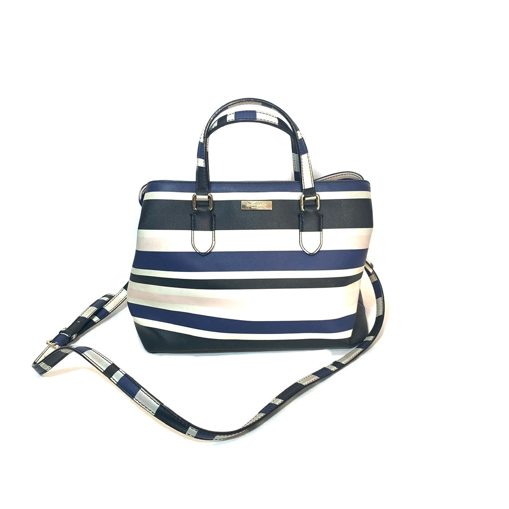 Kate Spade Striped 'Evangelie' Satchel | Pre Loved |