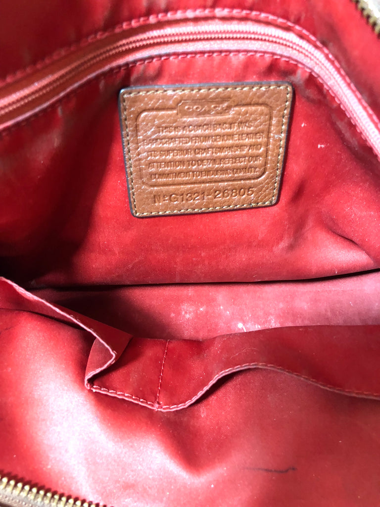 Coach Brown Pebbled Leather Tote Bag | Pre Loved | - Secret Stash