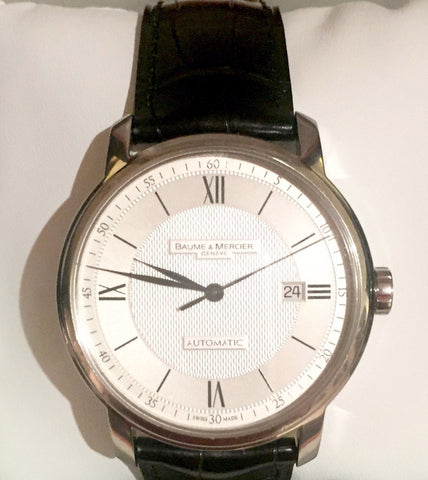 Baum & Mercier Leather Strap Watch | Gently Used | - Secret Stash