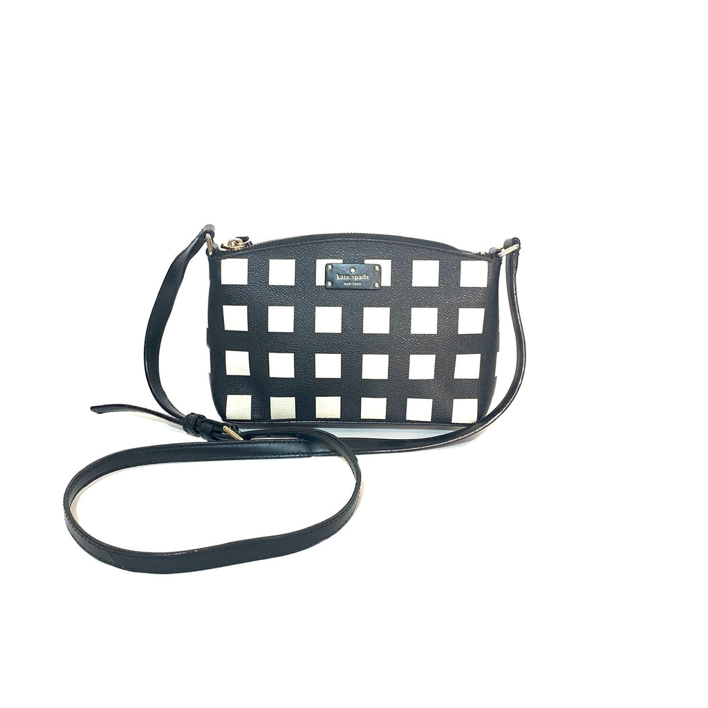 Kate Spade Checked 'Grove Street Millie' Cross Body Bag | Pre Loved |