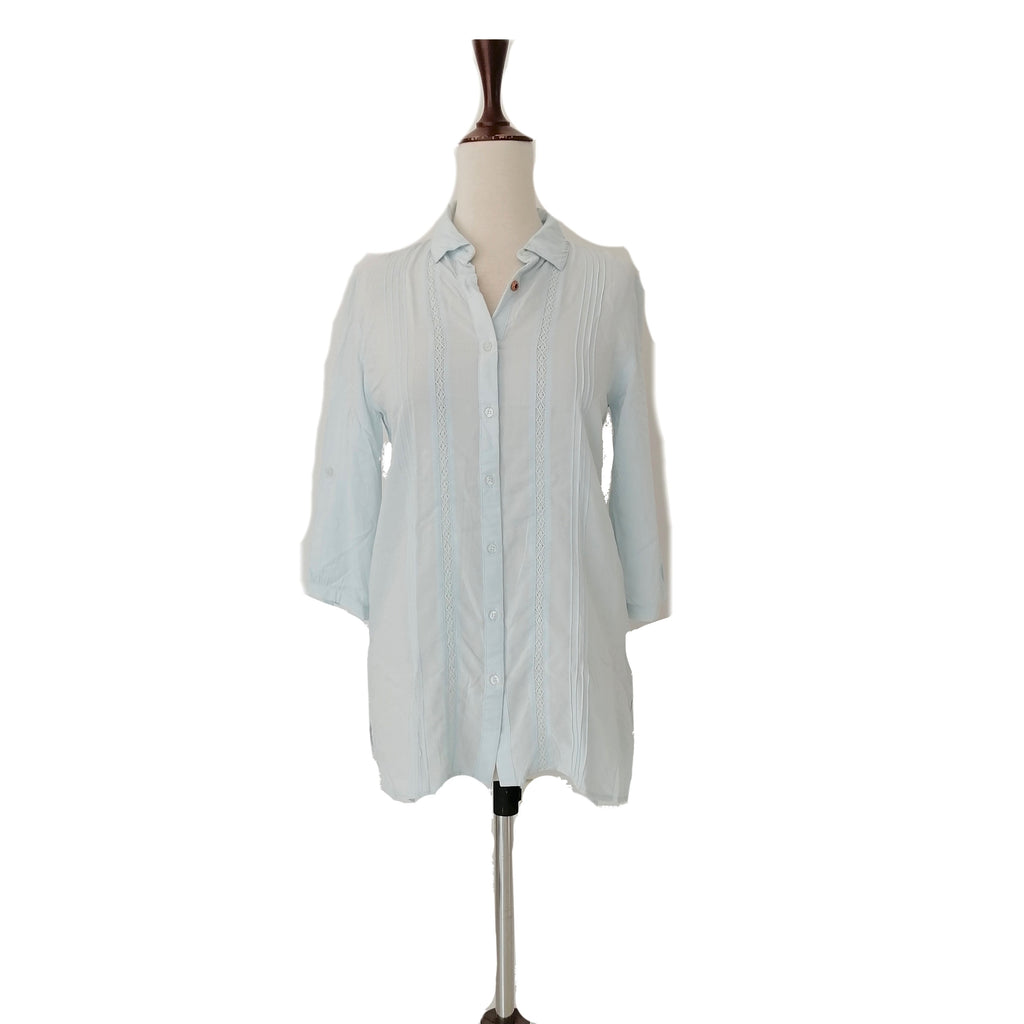 B+ Basic Light Blue Collared Shirt | Brand New |