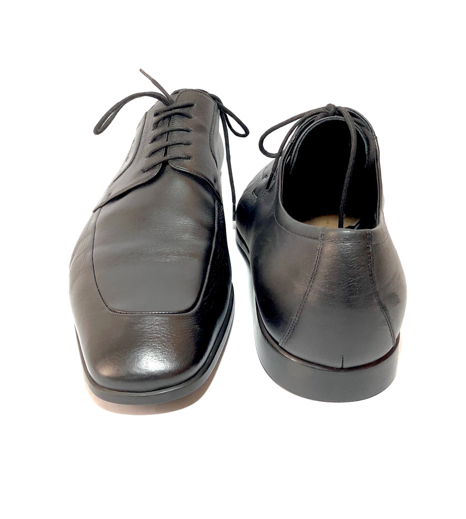 Gucci Men's Black Leather Lace Up Shoes | Brand New |