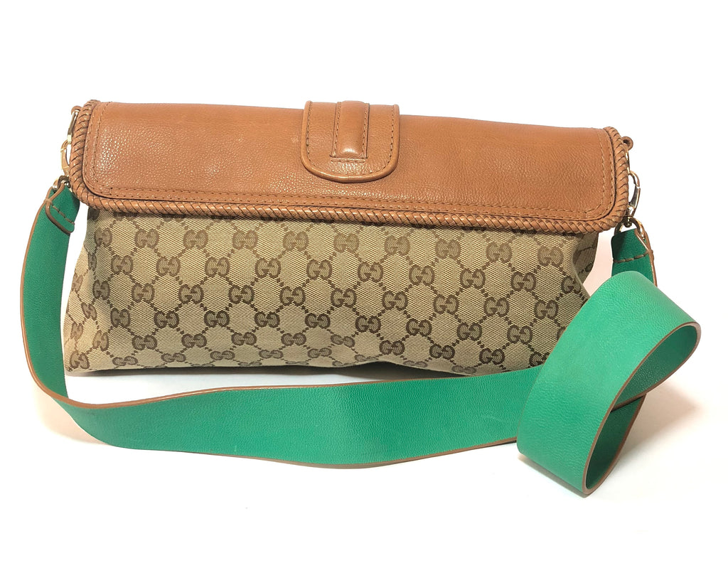 Gucci Monogram Canvas and Leather Satchel | Gently Used |