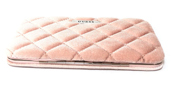 GUESS Blush Pink Quilted Velvet Wallet | Like New |
