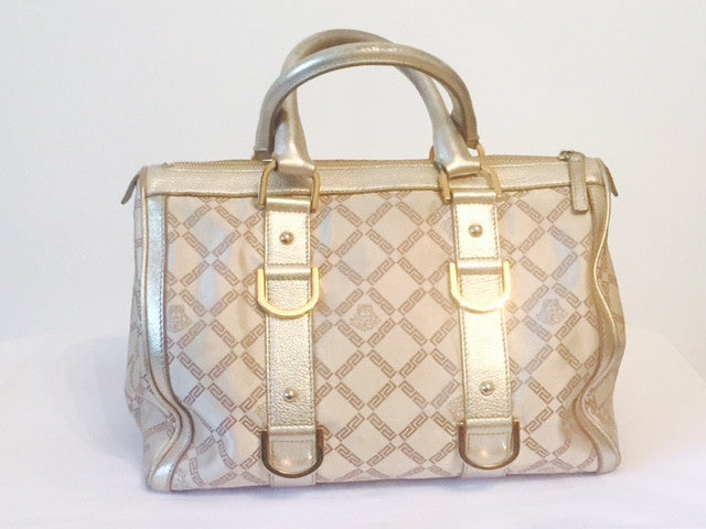Versace Fabric & Leather Silver Bag | Pre Loved | - Secret Stash
