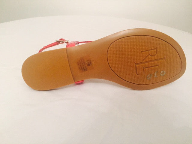 Ralph Lauren Red T-Strap Sandals | Brand New | - Secret Stash